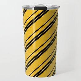 Potterverse Stripes - Hufflepuff Yellow Travel Mug