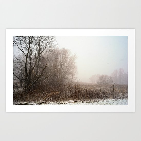 First snow of winter Art Print