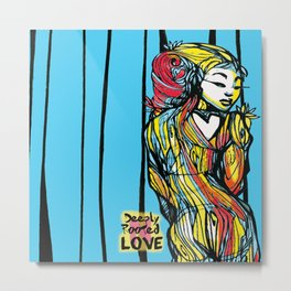 Lady Blue Deeply Rooted Metal Print