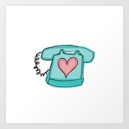 Long Distance Love Art Print