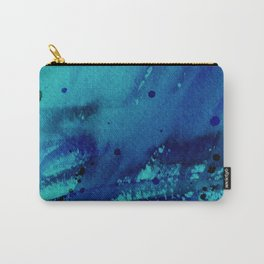 Watercolor Splash Blue Carry-All Pouch