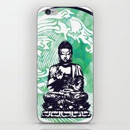 Buddha Typhoon Emerald Smoke iPhone Skin