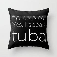 Tuba oompas (black) Throw Pillow