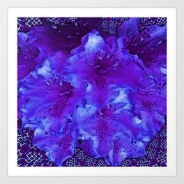 Vivid Amethyst Purple Garden Flowers  Art Art Print