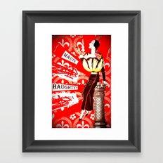 Haute Lady Framed Art Print