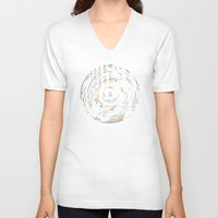 record V-neck T-shirts featuring Rainbow Record by Project M