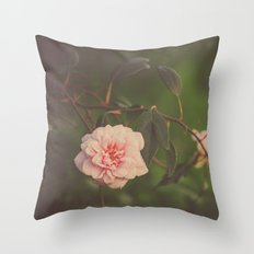 Silent Rose Throw Pillow
