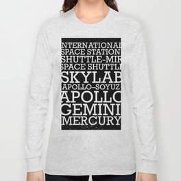 Manned Space Missions print. Long Sleeve T-shirt