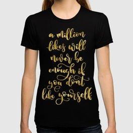 A Million Likes   Gold Palette T-shirt