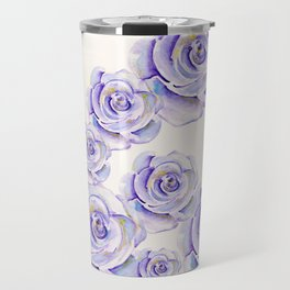 Puple Rose Painting Travel Mug