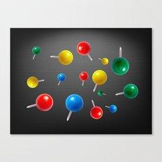 Pushpins  Canvas Print