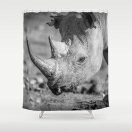 B&W Black Rhino Shower Curtain