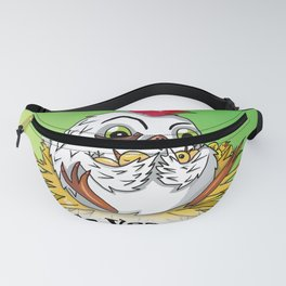 Mother hen and her chicks say go vegan Fanny Pack