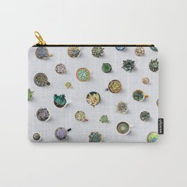 Coffee time. Cactus and succulents pattern Carry-All Pouch