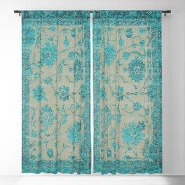 blue antique carpet Blackout Curtain