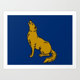The Golden Coyote Art Print