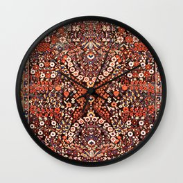 Neiriz Kerman South Persian Rug Print Wall Clock