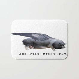 And Pigs Might Fly Bath Mat