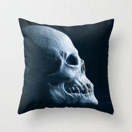 Skull Profile Throw Pillow