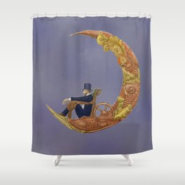 Steampunk Flying Machine   Shower Curtain