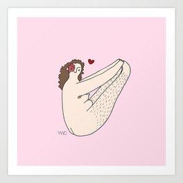 I Love My Legs #2 Art Print