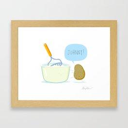 JOHNNY! Framed Art Print