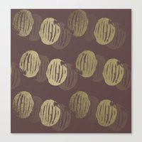 potato Canvas Prints featuring Potato by LutraLutraCards