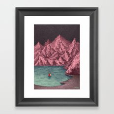 Swimming in your mind Framed Art Print