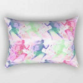 Watercolor women runner pattern Rectangular Pillow