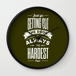 Lab No. 4 - Just Go. Getting Out The Door Motivational and Gym Quotes Poster Wall Clock