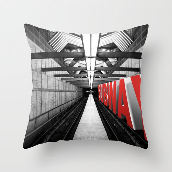 LA subway Throw Pillow