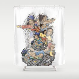 Growing Up Nintendo Shower Curtain