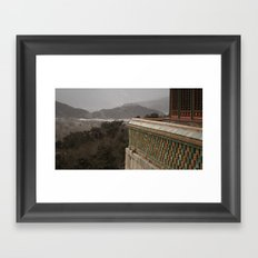 A View to a Hill Framed Art Print