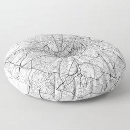 Dublin Map White Floor Pillow