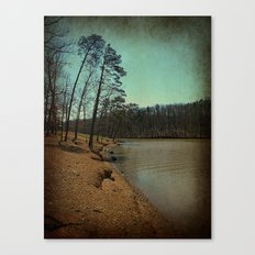 Riverbank Curve Canvas Print