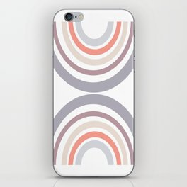 Modern Double Rainbow Hourglass in Muted Earth Tones iPhone Skin