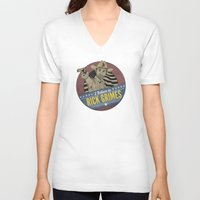 rick grimes V-neck T-shirts featuring I Believe in Rick Grimes by HuckBlade