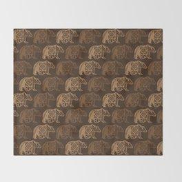 Bear Spirit Throw Blanket