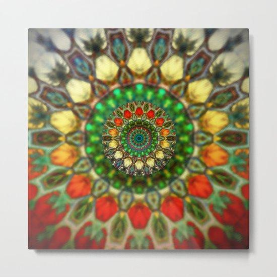 Sun Mandala 2 Metal Print