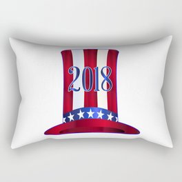 Uncle Sam's 2018 Tall Hat Rectangular Pillow