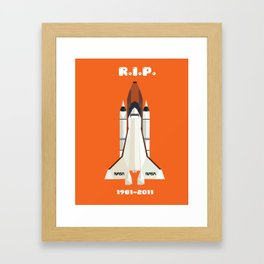 RIP, space shuttle Framed Art Print