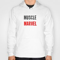 workout Hoodies featuring Workout Collection: Muscle by Kat Mun