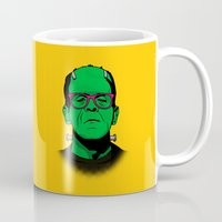 lichtenstein Mugs featuring Lichtenstein's Monster by John Tibbott