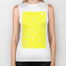 Yellow Abstract Biker Tank