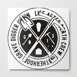Grave Digger Metal Print