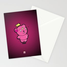 Pink Dead Bear Stationery Cards