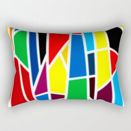 Geometric Shapes - bold and bright Rectangular Pillow