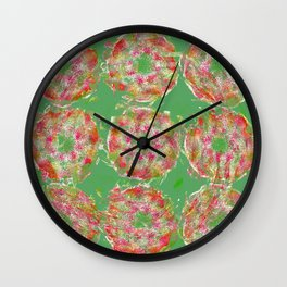 - moldy peach - Wall Clock