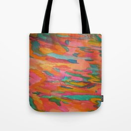 Rainbow Sherbet Abstract Painting Tote Bag
