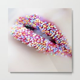 woman sweet colourful color Metal Print